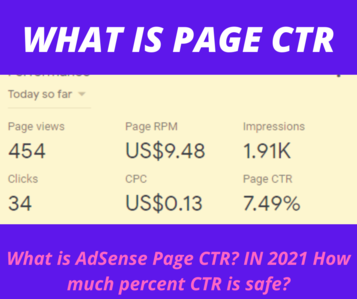 What is AdSense Page CTR How much percent CTR is safe ADSENSE CTR