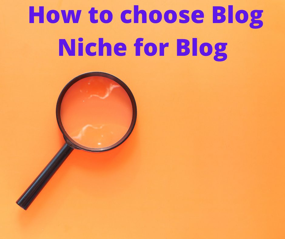 How to choose Blog Niche